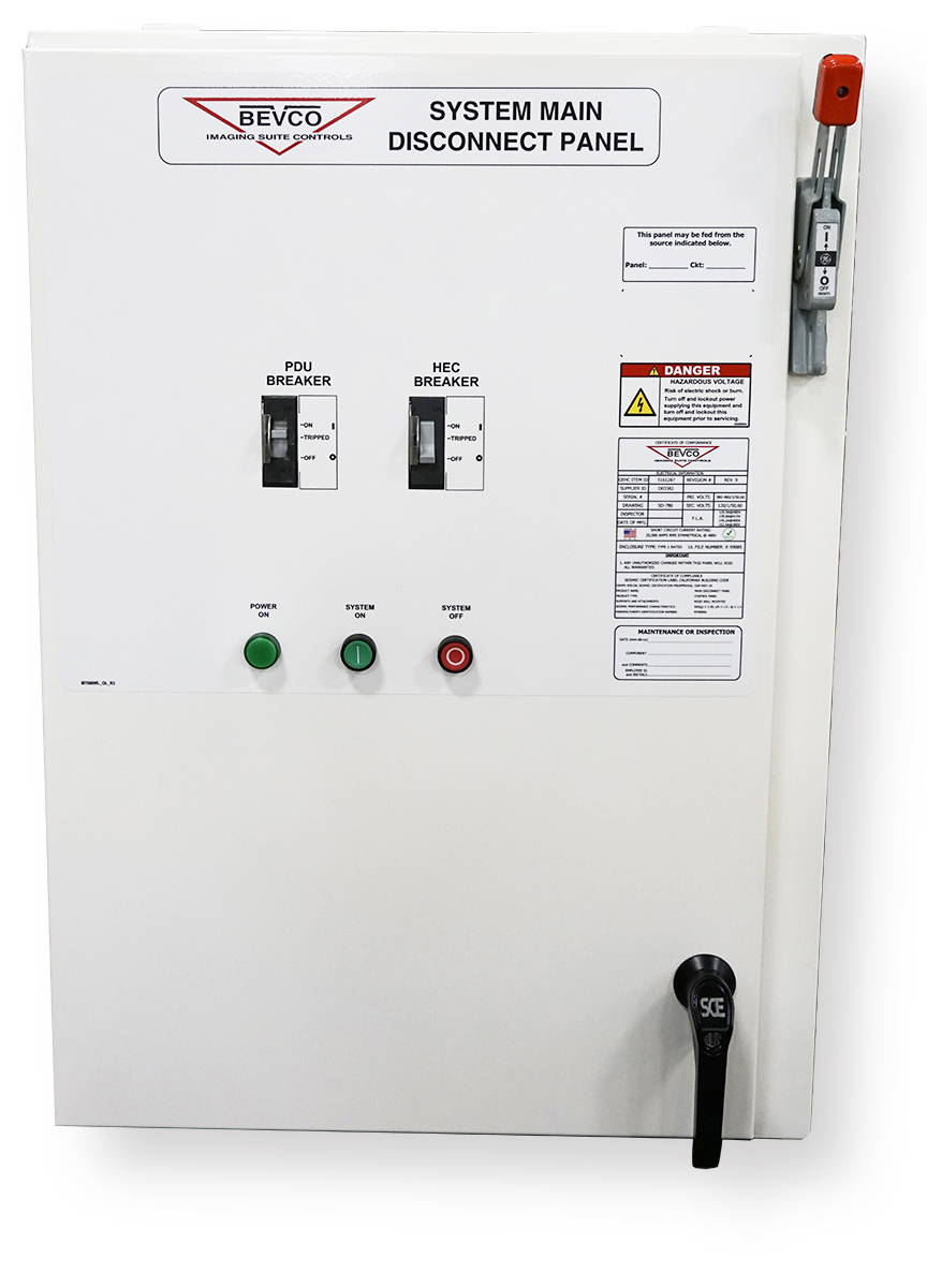 Bevco MRI Main Disconnect Panel